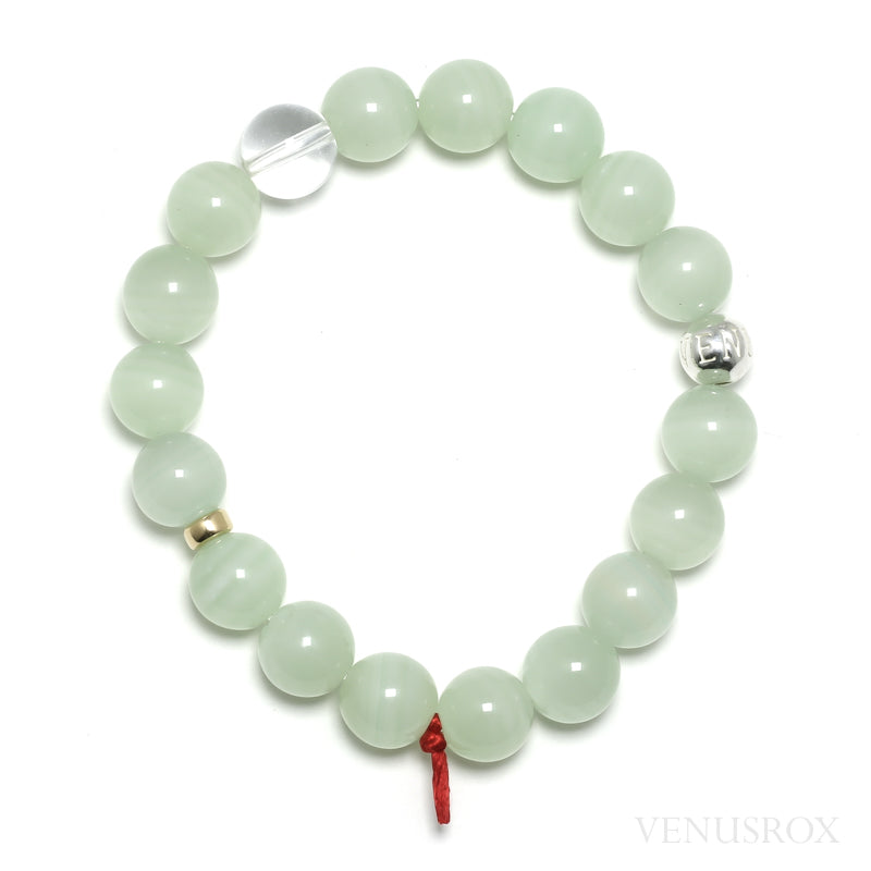 Green Calcite Bead Bracelet from Afghanistan | Venusrox