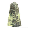 Serpentine with Pyrite Polished Point from Peru | Venusrox