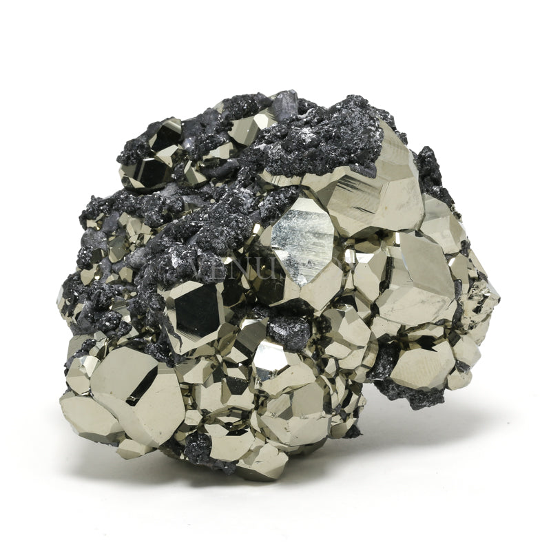 Pyrite with Sphalerite Natural Cluster from Huanzala Mine, Huallanca District, Dos de Mayo Province, Huánuco Department, Peru | Venusrox