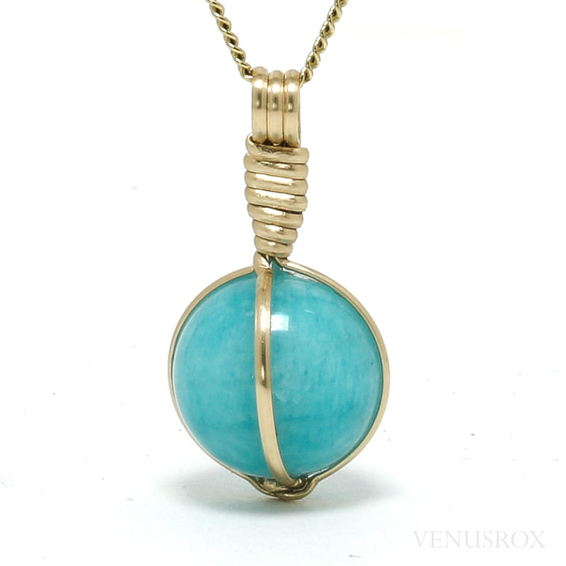 Amazonite Polished Sphere Pendant from Peru | Venusrox