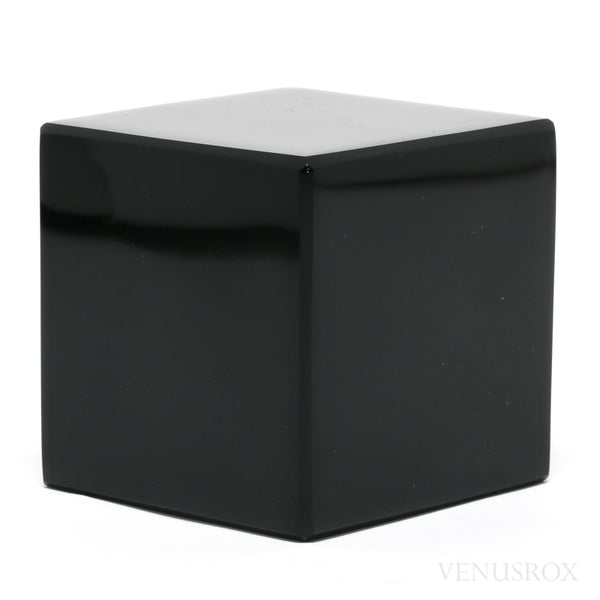 Black Obsidian Polished Cube from Mexico | Venusrox
