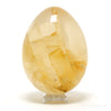Golden Quartz Polished Egg from Brazil | Venusrox