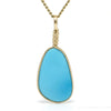 Turquoise Polished Crystal Pendant from the Sleeping Beauty Mine, Arizona, USA | Venusrox