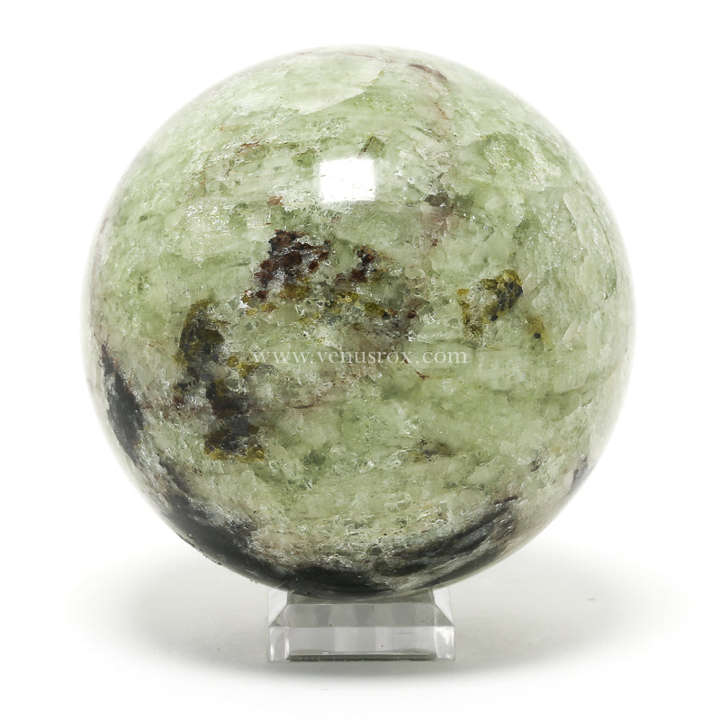 Green Apatite Polished Sphere from Lake Baikal, Siberia, Russia | Venusrox