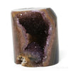 Amethyst with Agate Part Polished/Part Natural Crystal from Uruguay mounted on a bespoke stand | Venusrox