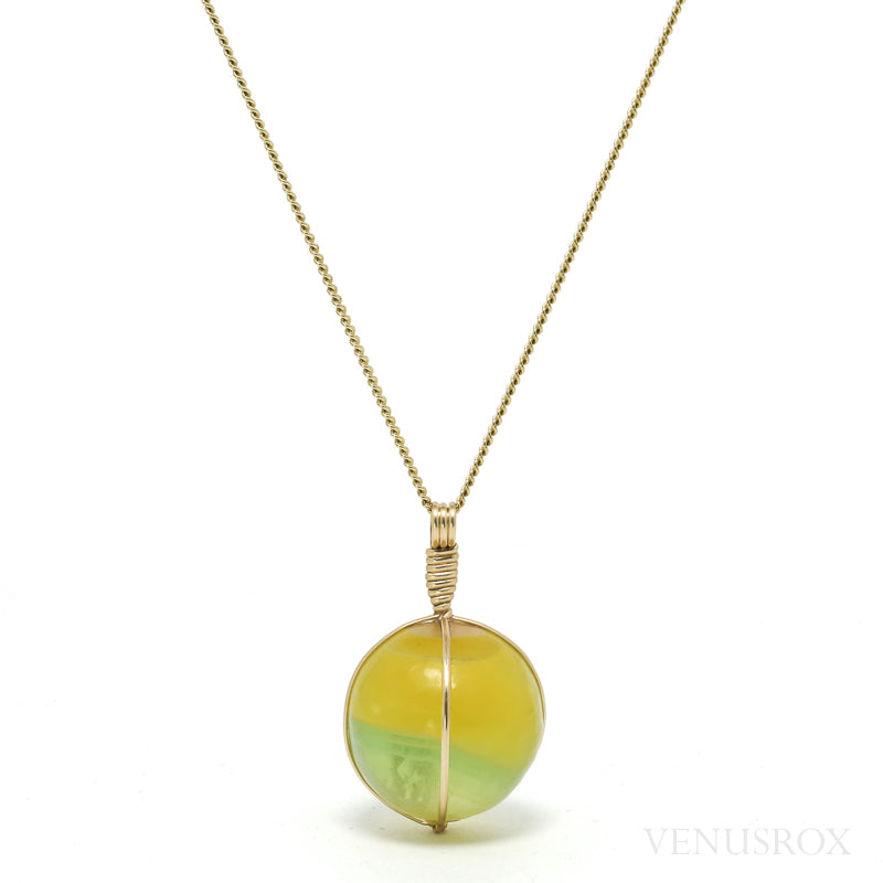 Fluorite Polished Sphere Pendant from Argentina | Venusrox