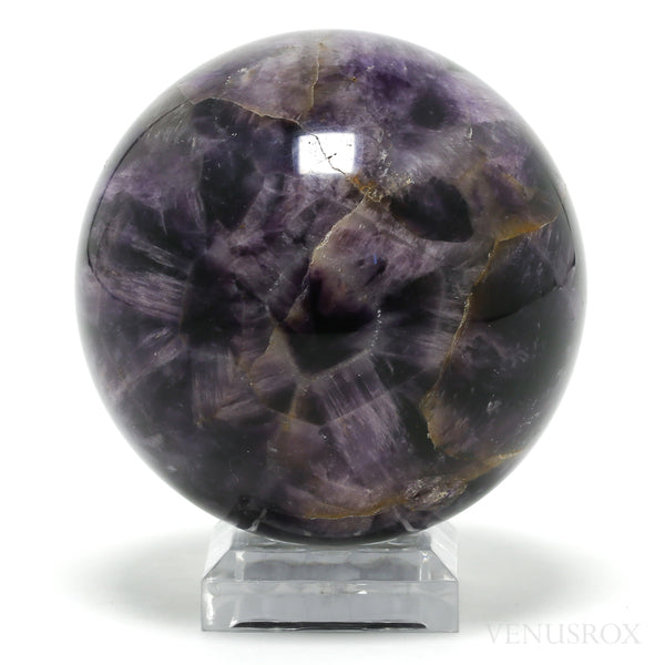 Chevron Amethyst Polished Sphere from India | Venusrox