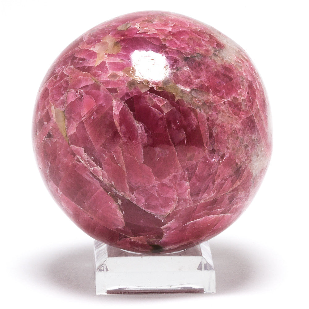 Gem Rhodonite Polished Sphere from Brazil | Venusrox