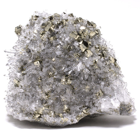 Pyrite with Quartz Cluster - Venusrox - 1