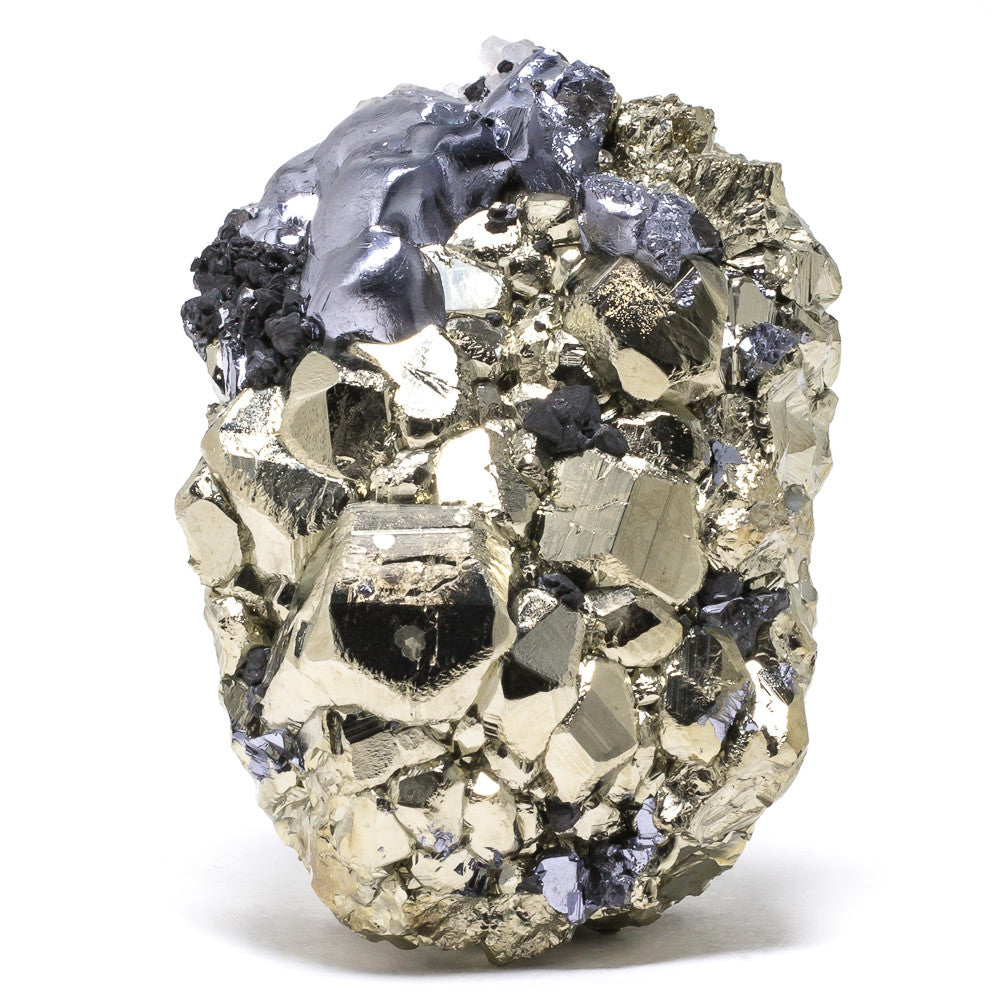 Pyrite, Galena and Calcite Cluster - Venusrox - 1