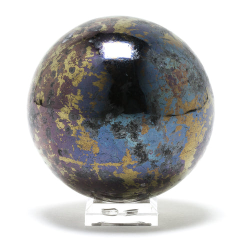 Covellite with Pyrite Sphere - Venusrox - 1