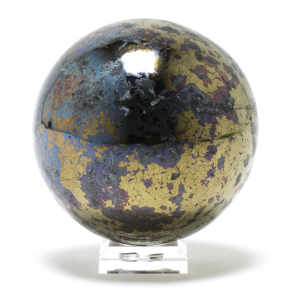 Covellite with Pyrite Sphere - Venusrox - 2