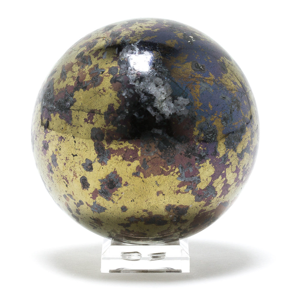 Covellite with Pyrite Sphere - Venusrox - 3