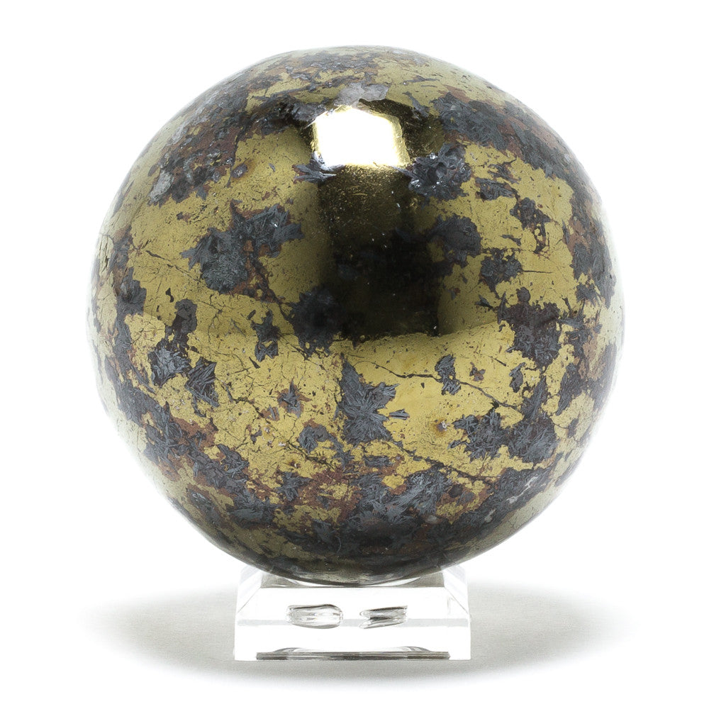 Covellite with Pyrite Sphere - Venusrox - 4