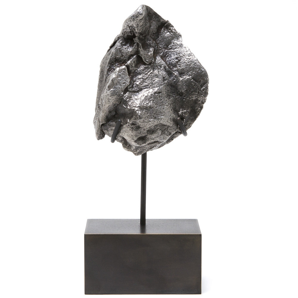 Meteorite (Sikhote Alin) Fragment with Bespoke Stand - Venusrox - 1