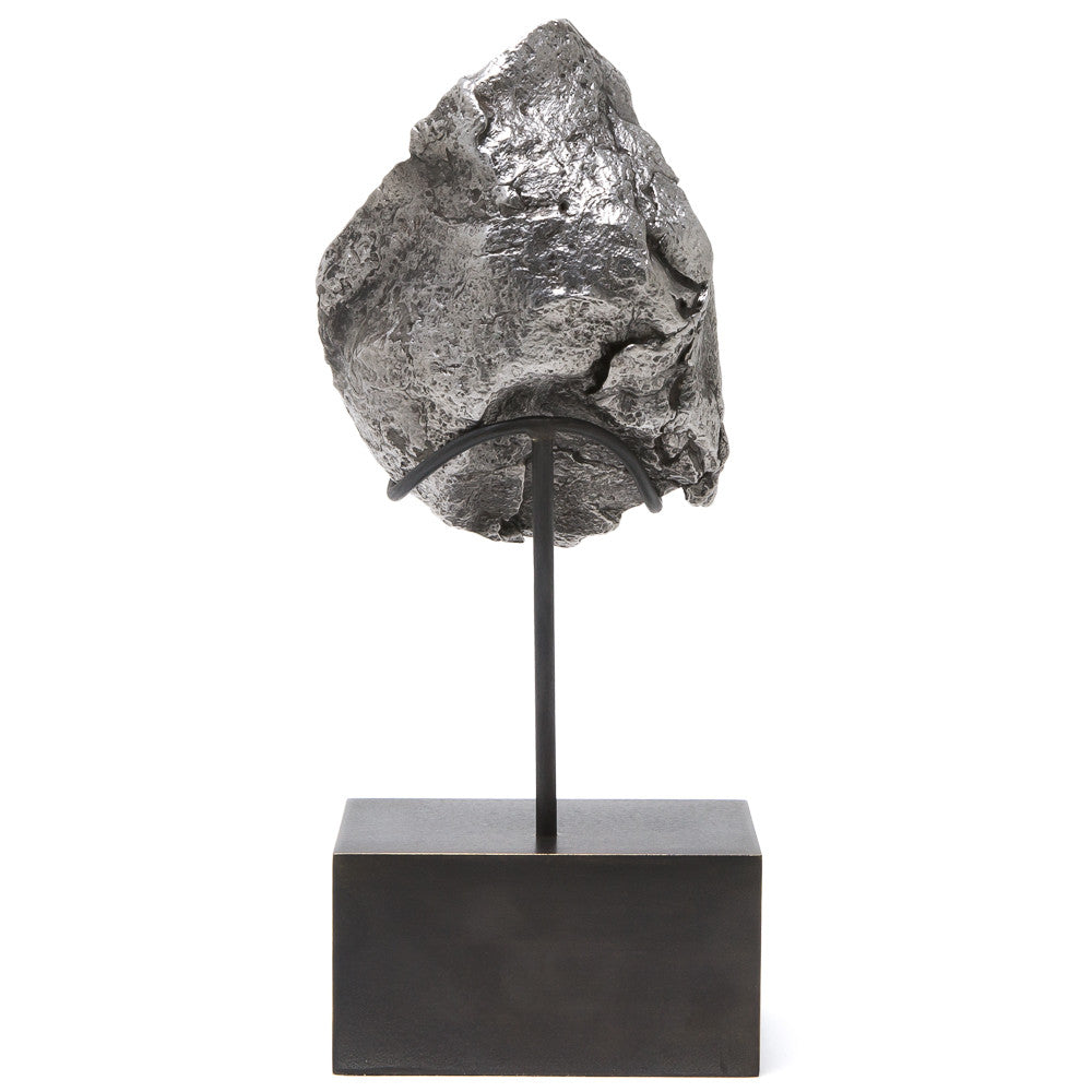 Meteorite (Sikhote Alin) Fragment with Bespoke Stand - Venusrox - 3