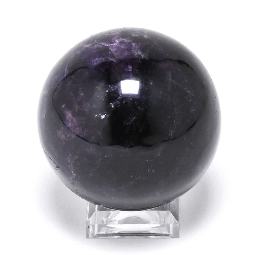Amethyst with Cacoxenite Sphere