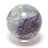 FLUORITE IN SERPENTINE SPHERE