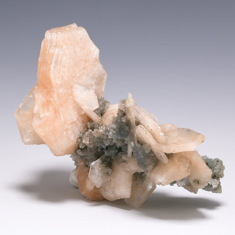 Stilbite on Zeolite Natural Cluster