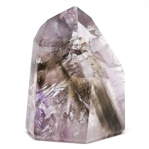 Amethyst with Smoky Quartz Phantom Polished Point