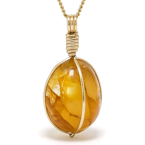 Quartz (Golden) Polished Crystal Pendant