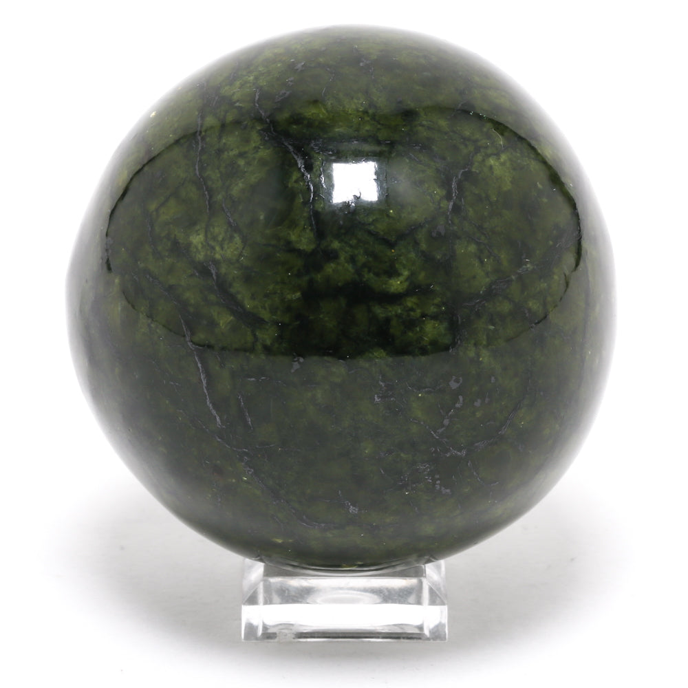 Serpentine Polished Sphere from Bazhenov Mine, Urals, Russia | Venusrox