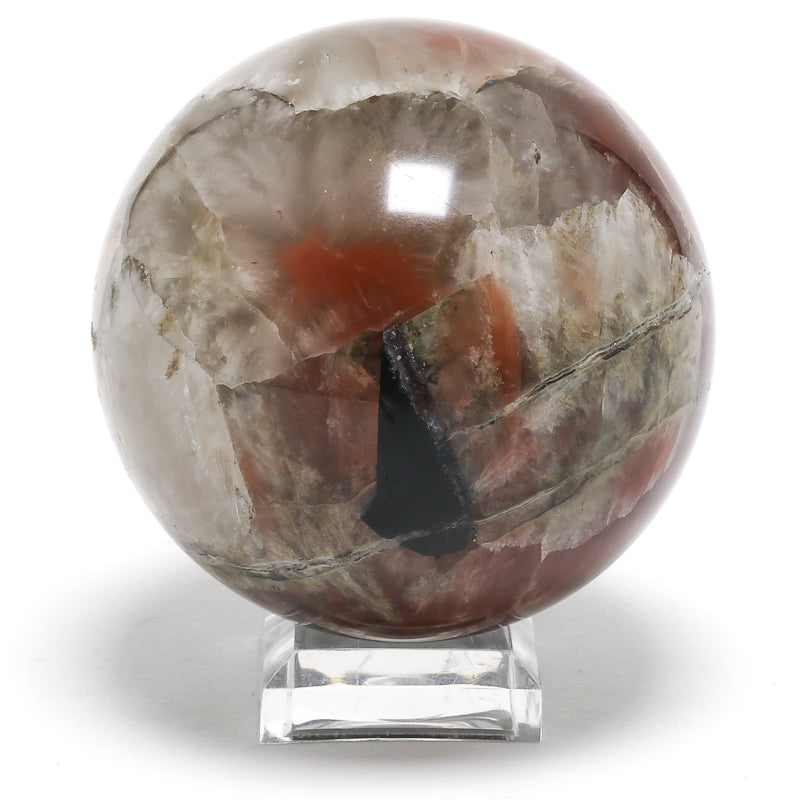 Red Quartz Polished Sphere from Dalnegorsk, Russia | Venusrox