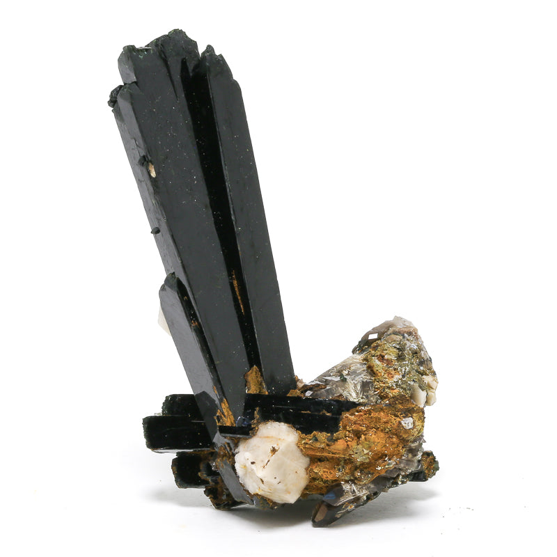 Aegirine with Smoky Quartz and Orthoclase Natural Cluster from Malawi | Venusrox