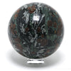 Almandine Garnet with Omphacite and Tremolite Sphere