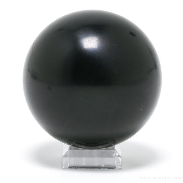 Jet/Gagat Polished Sphere from Russia | Venusrox