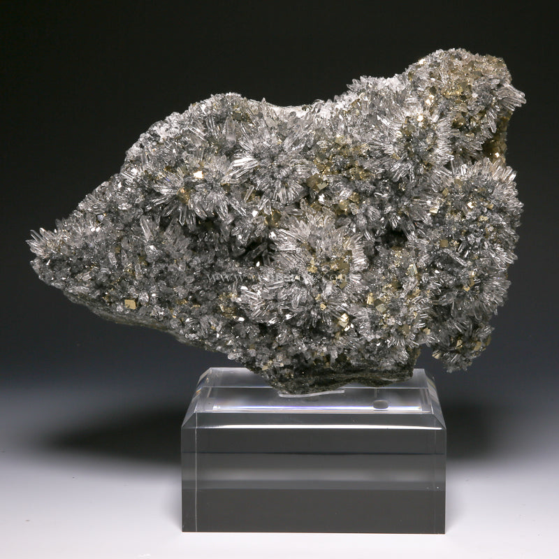 Pyrite with Quartz on Matrix Natural Cluster from the Huaron District, Peru | Venusrox