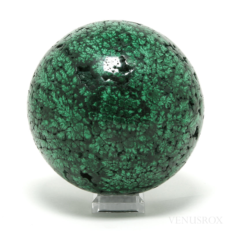 Malachite Polished Sphere from the Democratic Republic of Congo | Venusrox
