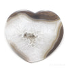 Agate with Quartz Polished Heart from Brazil | Venusrox