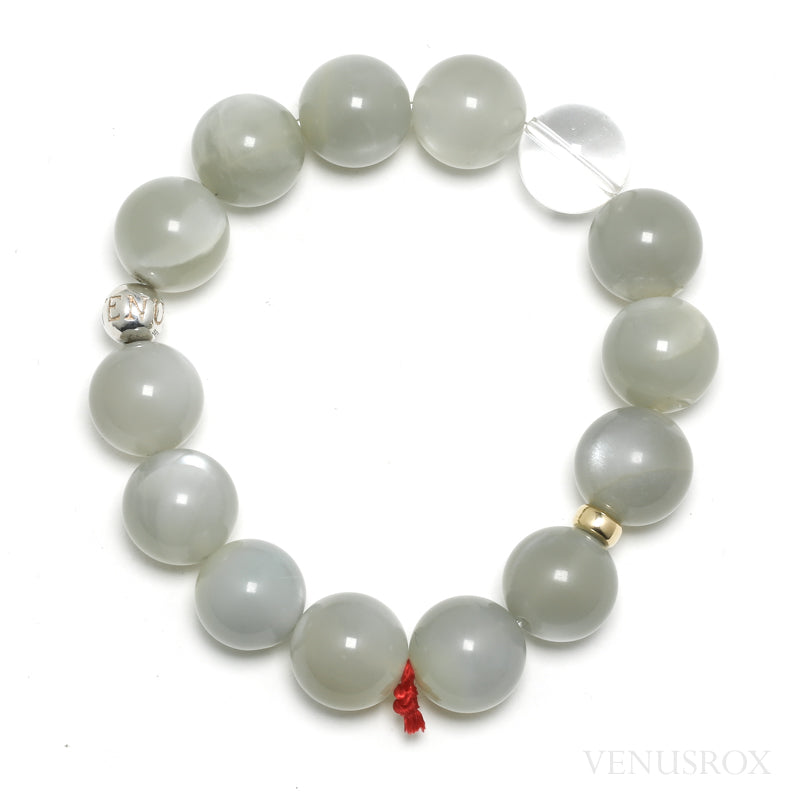 Grey Moonstone Bead Bracelet from India | Venusrox