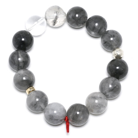 Quartz (Tourmalined) Bracelet