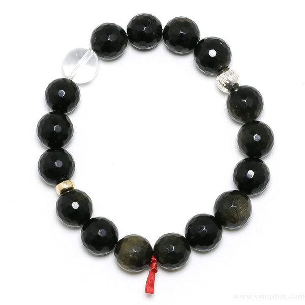 Gold Sheen Obsidian Bracelet from Mexico | Venusrox