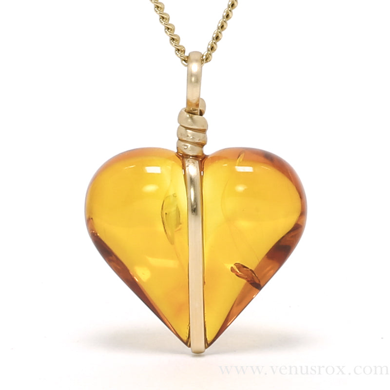 Baltic Amber Polished Heart Pendant | Venusrox