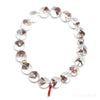 Red Phantom Quartz Bead Bracelet from Brazil | Venusrox