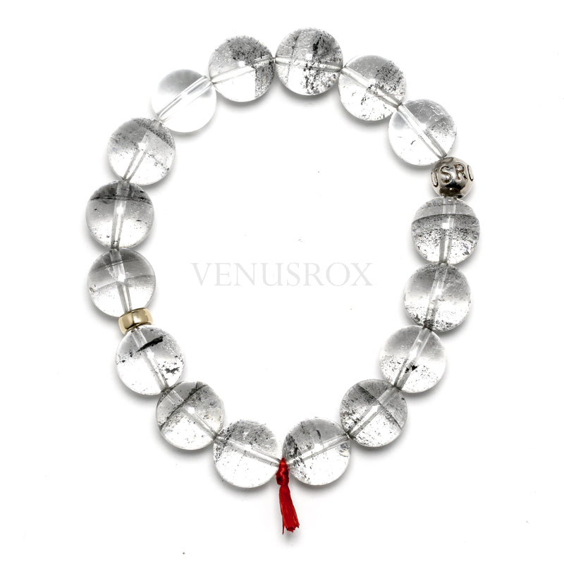 Black Phantom Quartz Bead Bracelet from Brazil | Venusrox