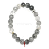 Tourmalinated Quartz Bead Bracelet from Brazil | Venusrox