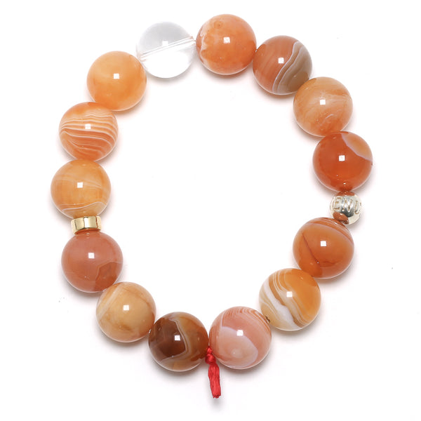 Red Agate Bracelet from Botswana | Venusrox