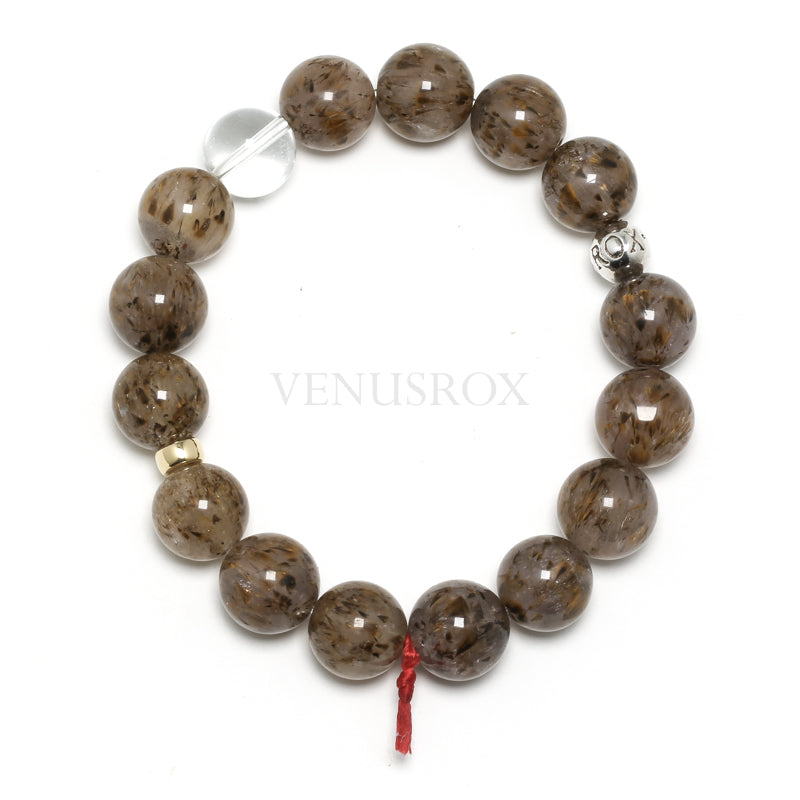 Cacoxenite in Quartz Bracelet from Brazil | Venusrox