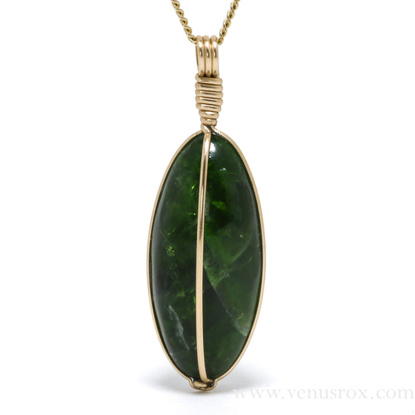 Chrome Diopside Polished Crystal Pendant from Russia | Venusrox
