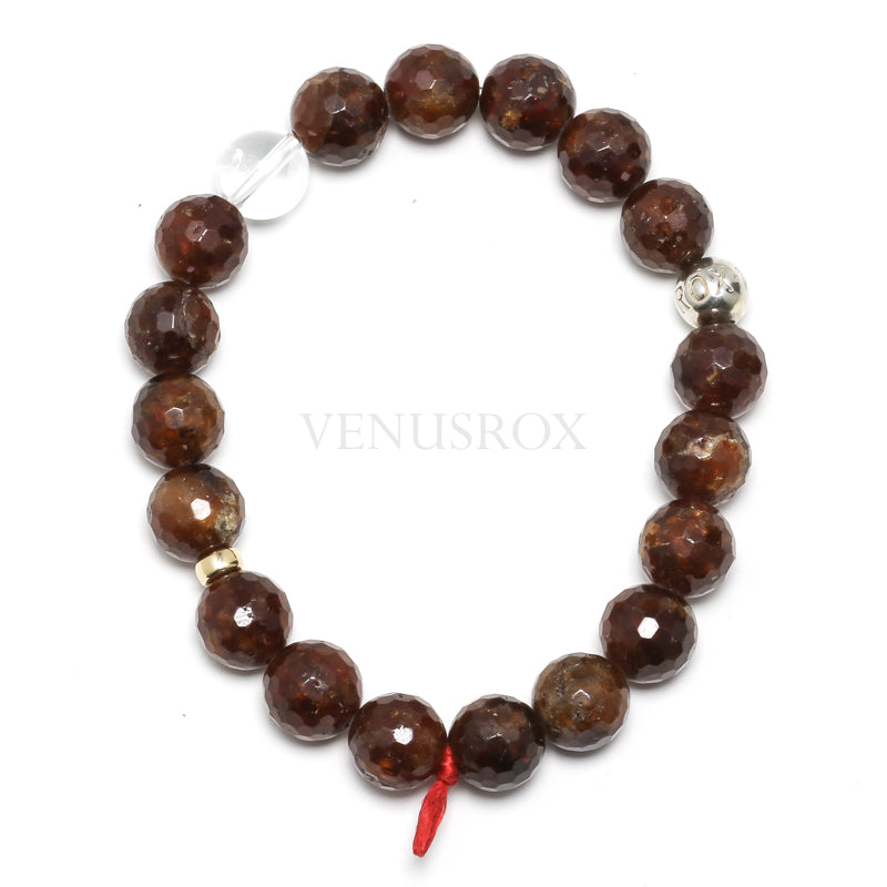 Hessonite Garnet Bead Bracelet from India | Venusrox