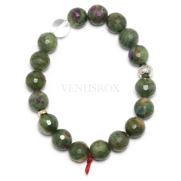 Ruby & Fuchsite Bracelet from India | Venusrox