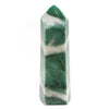 AVENTURINE (GREEN) WITH QUARTZ POLISHED POINT