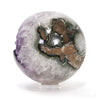 Amethyst with Calcite & Agate Geode Sphere from Brazil | Venusrox