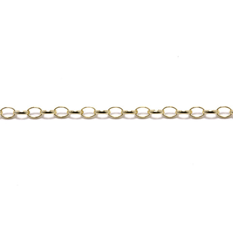 Gold Belcher Half Oval Light Chain (9ct Yellow Gold) (GBHOL) - Venusrox