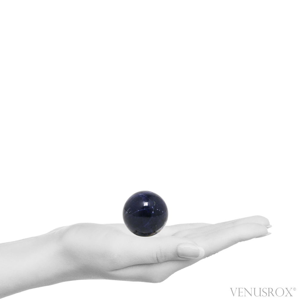 Size Illustration | Sodalite Polished Sphere from Brazil | Venusrox