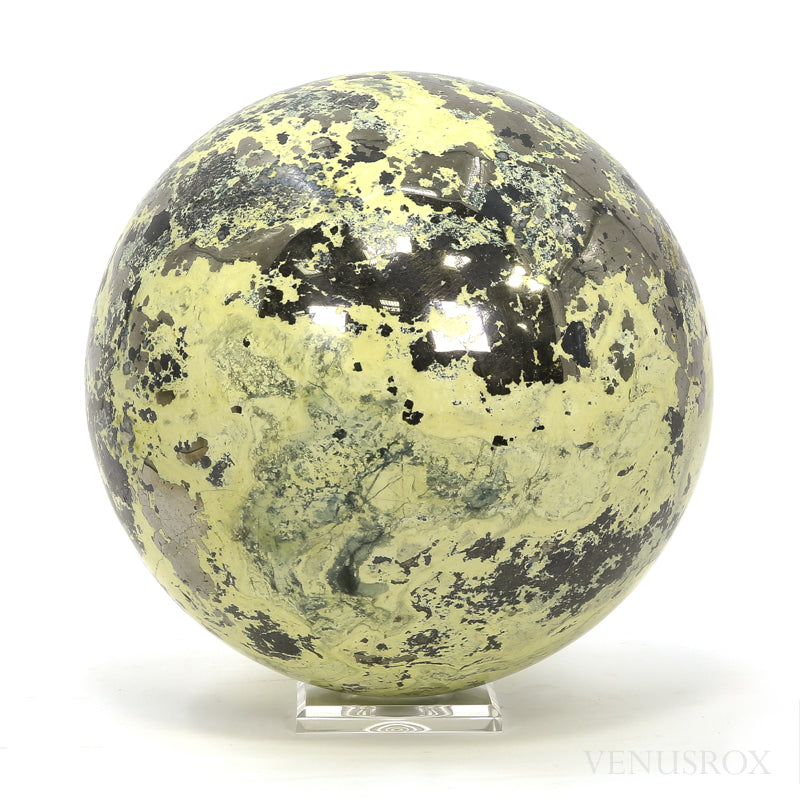 erpentine with Pyrite Polished Sphere from Peru